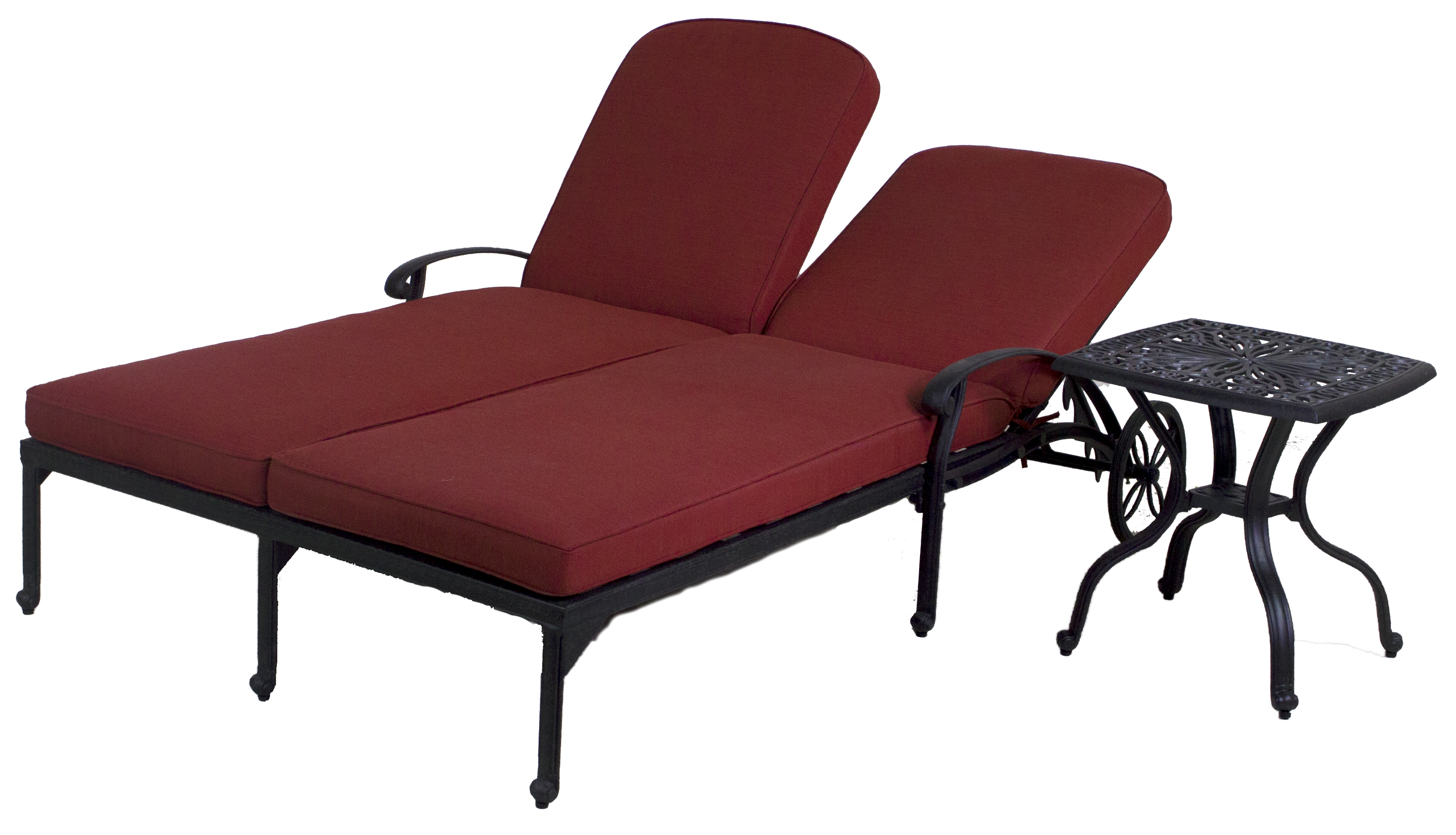 Catalina Double Chaise Lounge Chair End Table