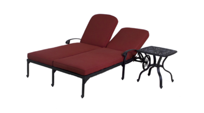 Catalina Double Chaise Lounge Chair & End Table