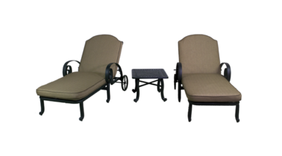 Wynn Collection Chaise Lounge Chair Set & End Table