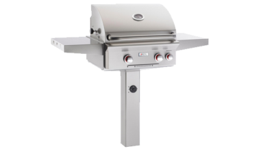 American Outdoor Grill – L-Series 24 Inch Propane Grill On In-Ground Post w/ Rotisserie