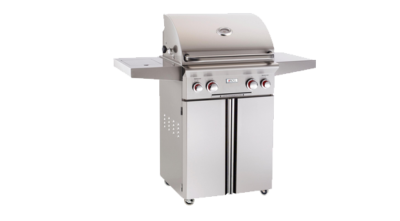 American Outdoor Grill – T-Series 24 Inch Propane Gas Grill On Cart w/ Rotisserie & Sideburner – 24PCT