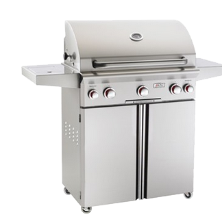American Outdoor Grill T-Series 30-Inch 3-Burner Propane Gas Grill W/ Rotisserie & Single Side Burner - 30PCT
