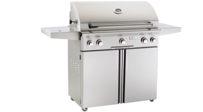 American Outdoor Grill T-Series 36-Inch 3-Burner Propane Gas Grill W/ Rotisserie & Single Side Burner - 36PCT