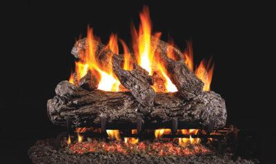 Real Fyre Rustic Oak Vented Gas Log Set w/ G45 Burner System – RH Peterson