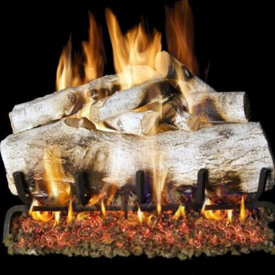 Real Fyre White Mountain Birch Vented Gas Log Set w/ G45 Burner System – RH Peterson