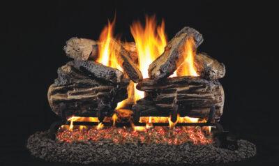 Real Fyre Charred Split Oak Vented Gas Log Set w/ G45 Burner System – RH Peterson