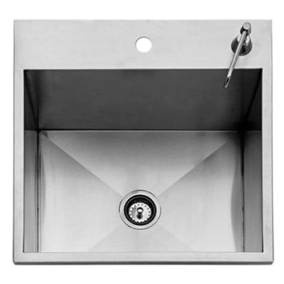 Twin Eagles 24-Inch Drop-In Sink with Stainless Steel Cover TEOS24-B