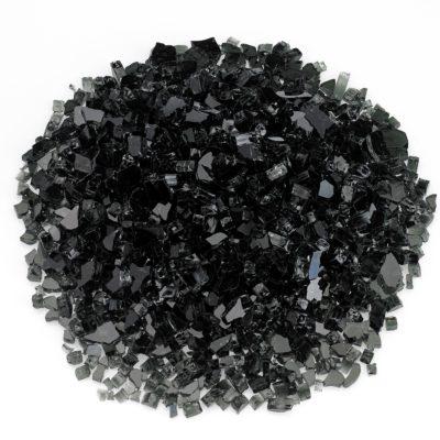 Black Quarter-Inch Fire Glass