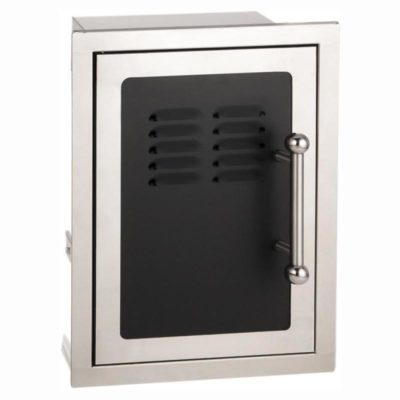 BLACK DIAMOND SINGLE DOOR WITH TANK TRAY & LOUVERS 53820HSC-TL