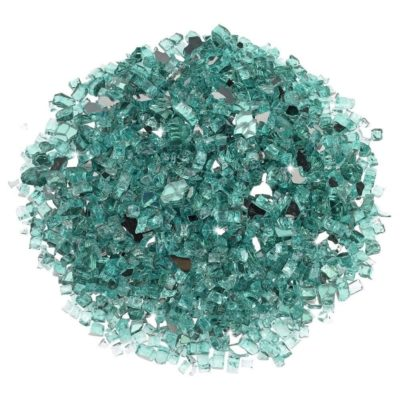 Azuria Blue Quarter-Inch Reflective Fire Glass