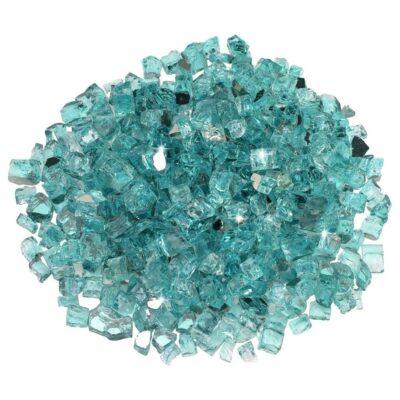Azuria Blue Half-Inch Reflective Fire Glass