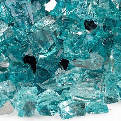 Azuria Blue Reflective Fire Glass