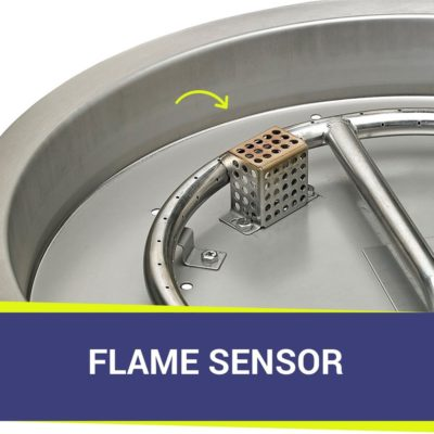 Heat Sensor for Round Fire Pit Pan