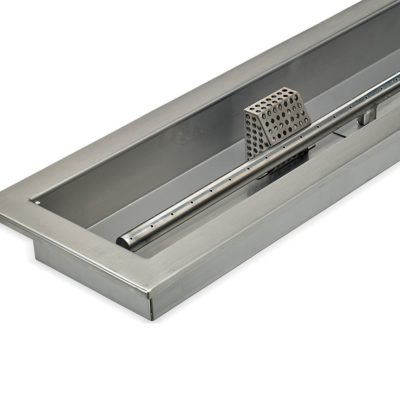 """30"""" x 6"""" Stainless Steel Linear Drop-in Fire Pit Pan With Electric Ignition System kit, CSA Certified PDF"""