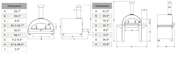 Alfa Ovens 4 Pizze Dimensions