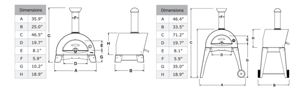 Alfa Ovens Ciao M Dimensions