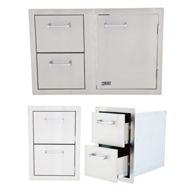 Lion BBQ Double Drawer and Door and Drawer Combination
