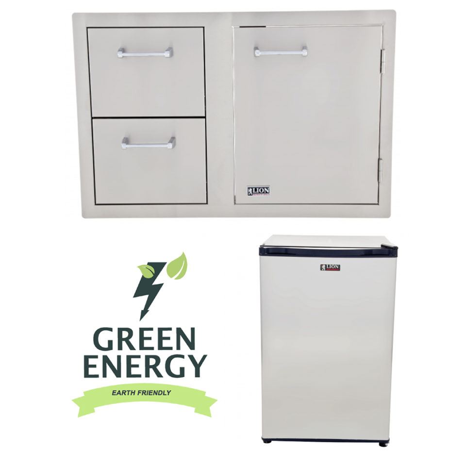 Lion BBQ Refrigerator and Door and Drawer Combination