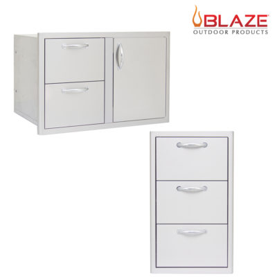 "Blaze Door Drawer Combo 32"" + Blaze Triple Drawer Set (BLZ-DDC-R + BLZ-DRW3-R)"