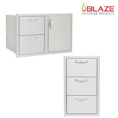 "Blaze Door Drawer Combo 32"" + Blaze Triple Drawer Set (BLZ-DDC-R + BLZ-DRW3-R)"