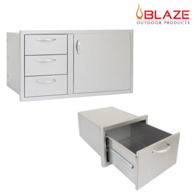 Blaze Door Drawer Combo 39 + Blaze Single Drawer (BLZ-DDC-39-R + BLZ-DRW1-R)