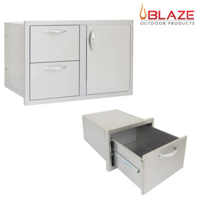 Blaze 32-Inch Door Drawer Combo and Single Access Drawer