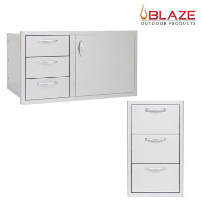 "Blaze Door Drawer Combo 39"" + Blaze Triple Drawer Set (BLZ-DDC-39-R + BLZ-DRW3-R)"