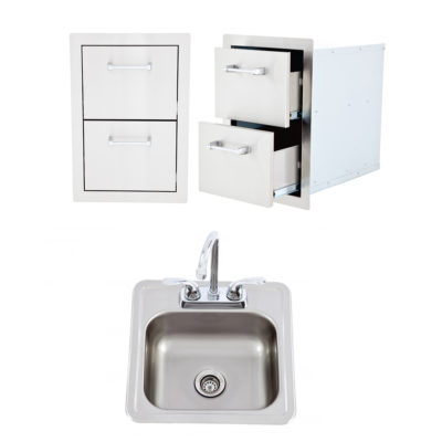 Double-Drawer-Bar-Sink-with-Faucet-L2374-L55628