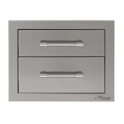 Alfresco 17-Inch Double Drawer