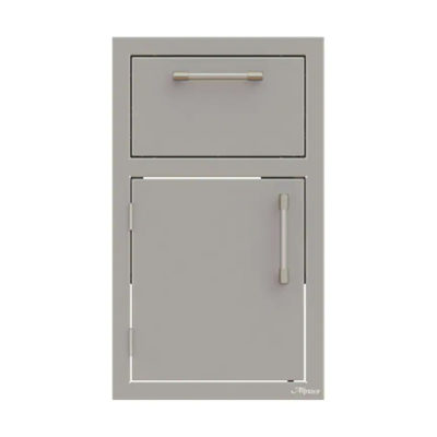 Alfresco 17-Inch Left-Hinged Door Drawer Combo