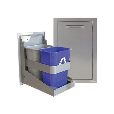 Alfresco Double Bin Trash Center