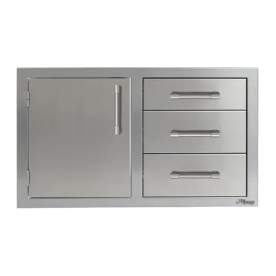 Alfresco Left-Hinged Triple Drawer Combo